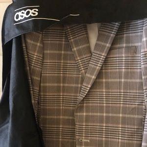 ASOS Suits & Blazers - ASOS DESIGN skinny suit jacket stone check -  38L